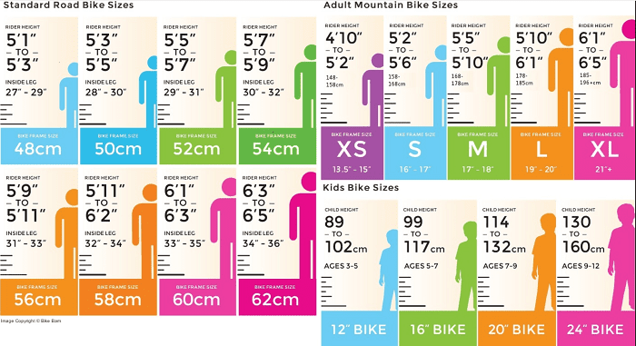 what size of bike